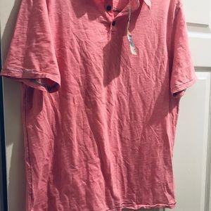 Men's True grit pink cotton polo shirt large NWT